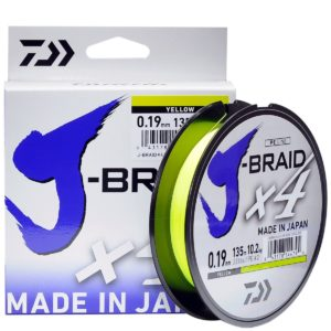 Шнур Daiwa J-BRAID X4E 0.13MM-135M YELLOW