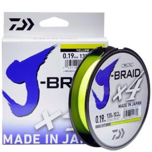 Шнур Daiwa J-BRAID X4E 0.15MM-135M YELLOW
